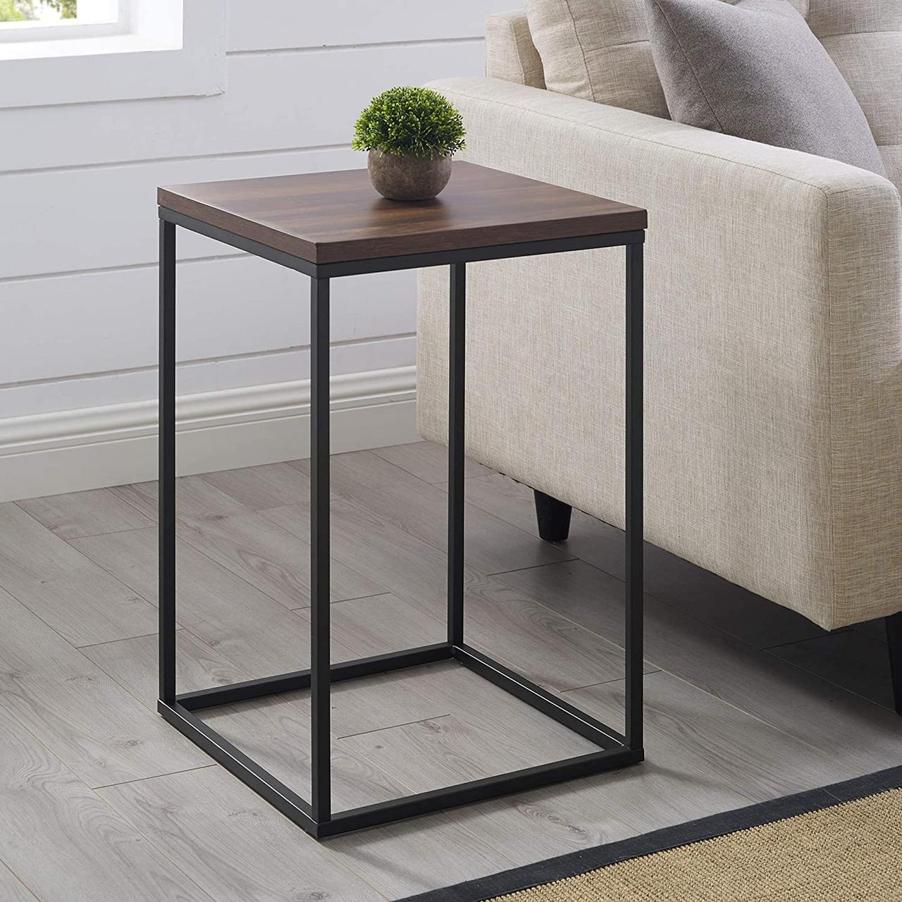 Приставной журнальный, кофейный столик GoodsMetall в стиле Лофт 600х400х400 ЖС131