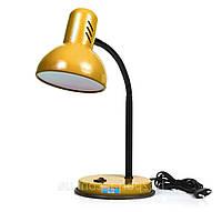 Настольная лампа патрон Е27 LOGA золото, фото 1