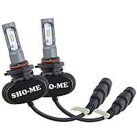Комплект автомобильных светодиодных LED ламп для фар Sho-Me G8.2 HB4 8000Lm 6000K Головной свет Лед 9006