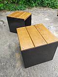 Скамья GoodsMetall в стиле ЛОФТ 450х450х450 - ЛС82, фото 8