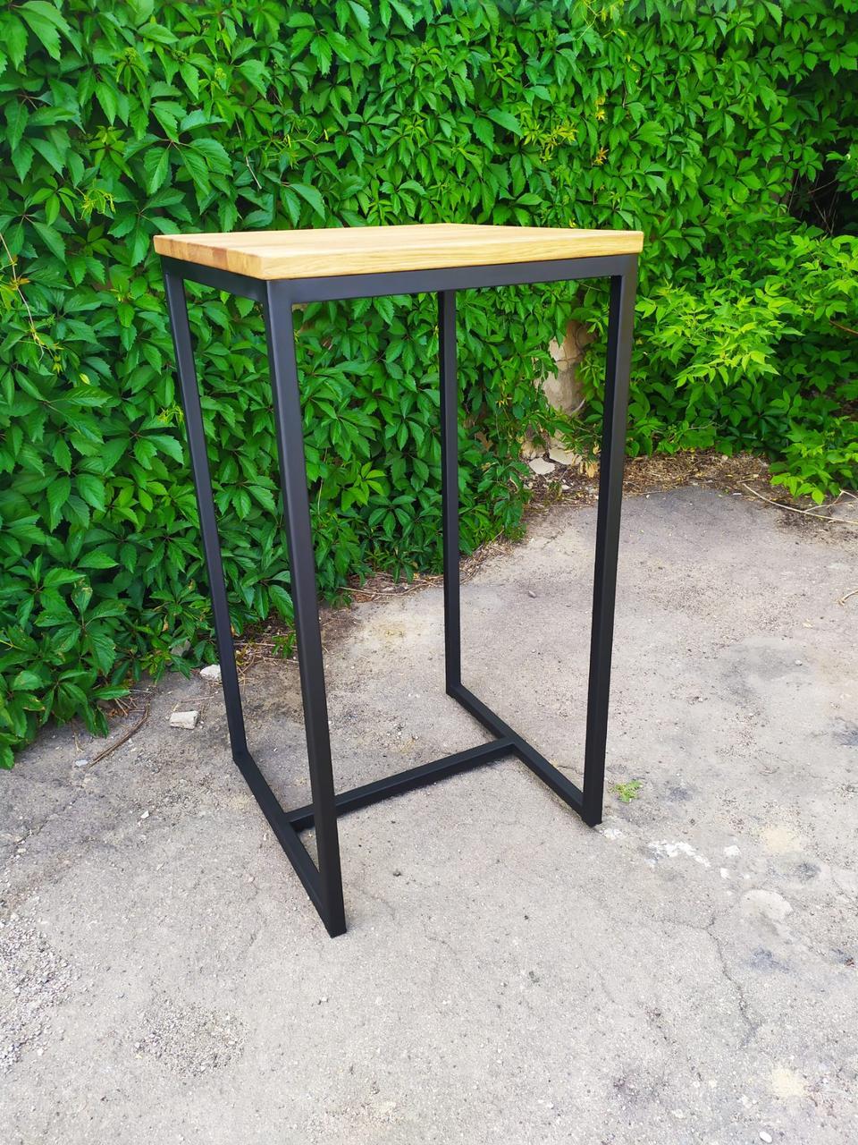 Стол барный GoodsMetall в стиле Лофт 1100х600х600 БСТ101