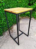 Стол барный GoodsMetall в стиле Лофт 1100х600х600 БСТ101, фото 3