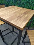 Стол барный GoodsMetall в стиле Лофт 1100х600х600 БСТ101, фото 4