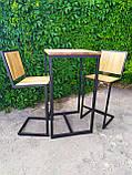 Стол барный GoodsMetall в стиле Лофт 1100х600х600 БСТ101, фото 6
