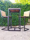 Стол барный GoodsMetall в стиле Лофт 1100х600х600 БСТ101, фото 7