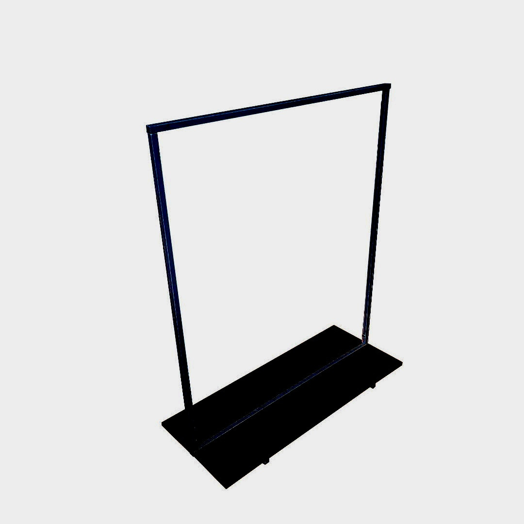 Вешалка стойка для одежды GoodsMetall в стиле Лофт 1500х1000х400мм ВШ123