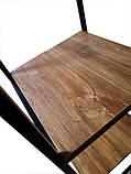 Вешалка стойка для одежды GoodsMetall в стиле Лофт 1800х1200х400мм ВШ124, фото 3