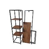 Вешалка стойка для одежды GoodsMetall в стиле Лофт 1800х1200х400мм ВШ124, фото 4