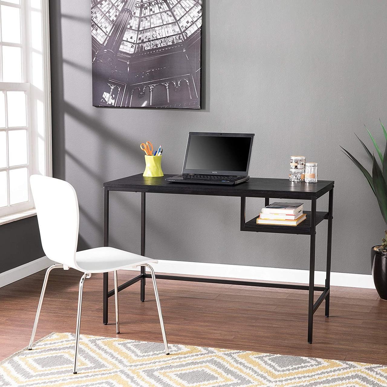 Стол письменный GoodsMetall из металла с полкой в стиле Лофт 1100х550х750 СП123