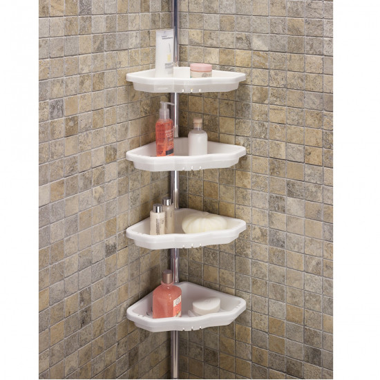 Полка в ванную угловая Prima Nowa на аллюминиевой трубе