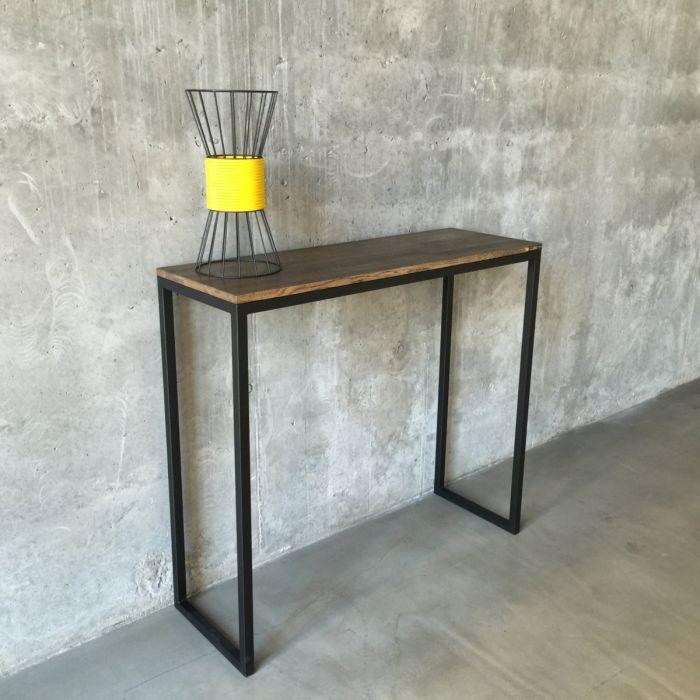 Барный стол Консоль GoodsMetall в стиле Лофт 1200х1000х400 СК2