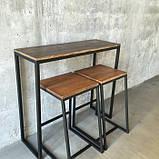 Барный стол Консоль GoodsMetall в стиле Лофт 1200х1000х400 СК2, фото 3