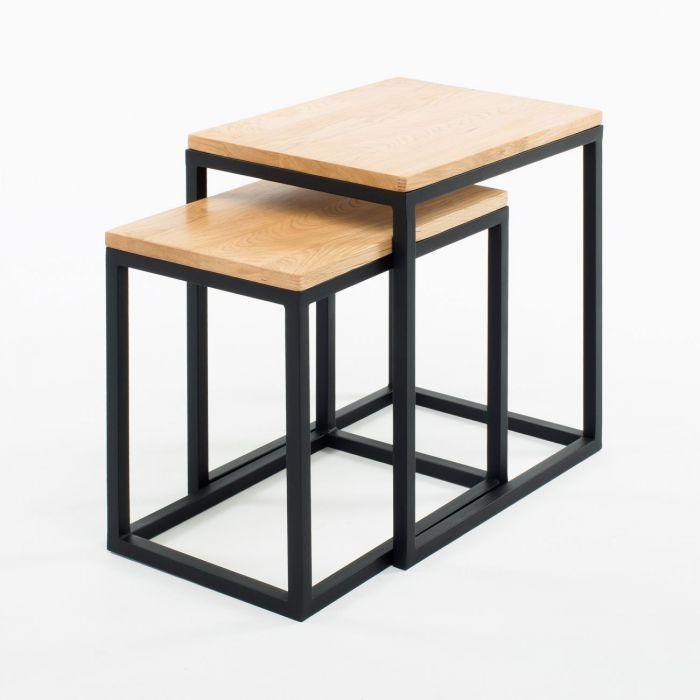Комплект журнальных столиков GoodsMetall в стиле Лофт 500х450х350 КЖС44