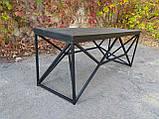 Журнальный, кофейный столик GoodsMetall в стиле Лофт 1200х400х450 ЖС777, фото 3