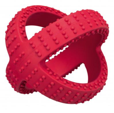 Капкан, натур резина, 14 см, красный