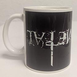 """Кружка """"Black Metal"""" [рисунок верх дном] (белая)"""