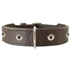 Ошейник Hunter кожаный «Yuma» 51-58,5 см / 39 мм (коричневый)