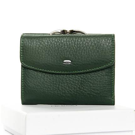 Шкіряний жіночий гаманець зелений на кнопці Dr. Bond WS-11, фото 2