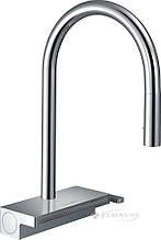 Змішувач для мийки Hansgrohe Aquno 170, з витяжним душем, 3jet, sBox, хром (73831000)