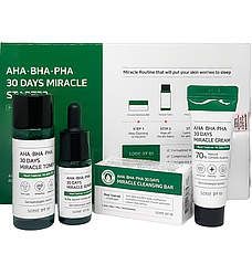 Набір засобів для проблемної шкіри з кислотами Some By Mi AHA BHA PHA 30 Days Miracle Mini Set