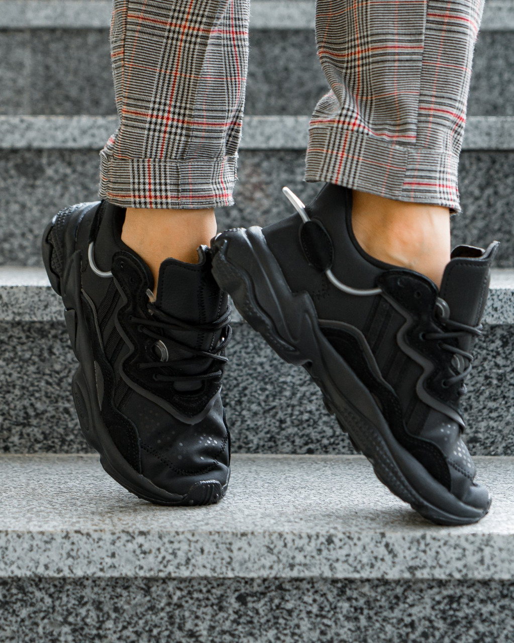 Adidas Ozweego Leather  Black (39(25см))