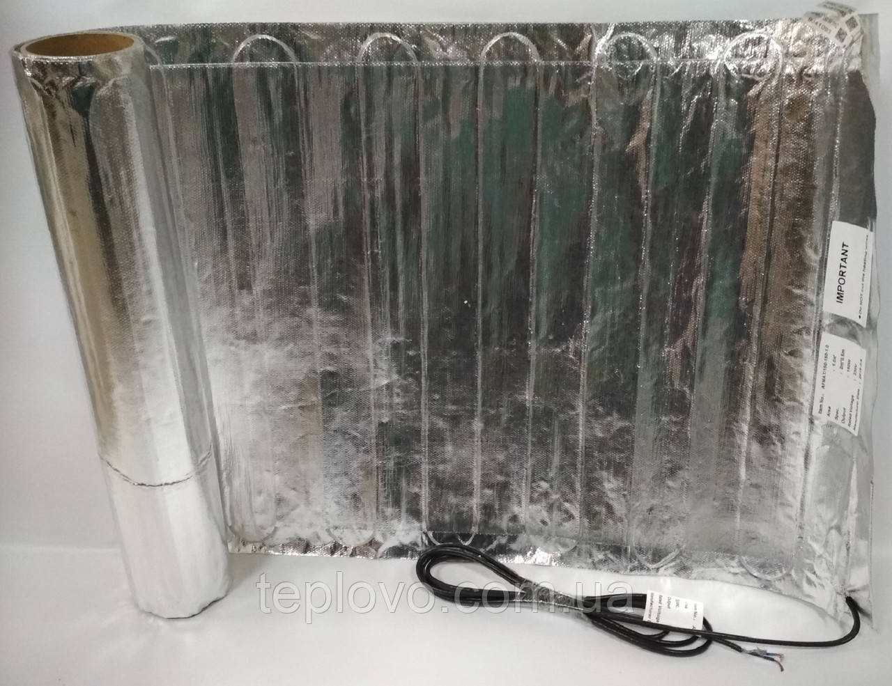 Алюминиевый мат IN-THERM AFMAT 8,0 м2 (1200 Вт), теплый пол под ламинат