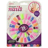 """Накладные ногти """"Glamour Nails"""" (36 шт), Eynee, Детская декоративная косметика для девочек,Косметика для"""