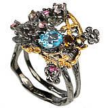 Серебряное кольцо с топазом Швейцарским, 1567КТ, фото 2