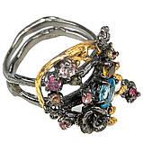 Серебряное кольцо с топазом Швейцарским, 1567КТ, фото 3