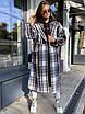 Женское твидовое Пальто в принт под пояс, длиной ниже колен (р. 42 - 46) 83lt154, фото 3