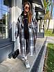 Женское твидовое Пальто в принт под пояс, длиной ниже колен (р. 42 - 46) 83lt154, фото 6