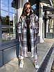 Женское твидовое Пальто в принт под пояс, длиной ниже колен (р. 42 - 46) 83lt154, фото 7