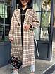 Женское твидовое Пальто в принт под пояс, длиной ниже колен (р. 42 - 46) 83lt154, фото 8