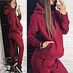 Утепленный женский спортивный костюм из трехнитки : свободное худи и штаны (р.42 - 50) 83rt1166, фото 3