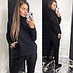 Утепленный женский спортивный костюм из трехнитки : свободное худи и штаны (р.42 - 50) 83rt1166, фото 4