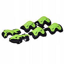 Комплект защитный SportVida SV-KY0001-L Size L Black/Green, фото 3
