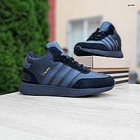 Мужские зимние кроссовки в стиле Adidas INIKI черные