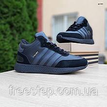 Чоловічі зимові кросівки в стилі Adidas INIKI чорні