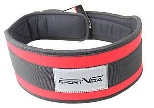 Пояс для тяжелой атлетики неопреновы SportVida SV-AG0104 (XL) Red, фото 3