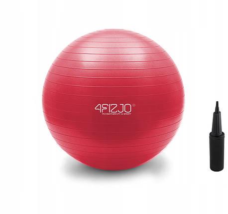 Мяч для фитнеса (фитбол) 4FIZJO 55 см Anti-Burst Red, фото 2