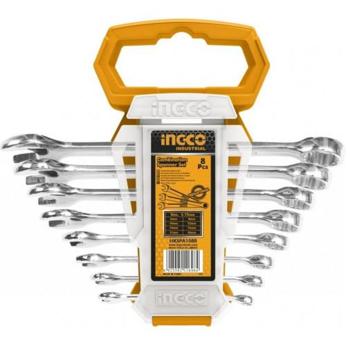 Комплект ключів гайкових комбінованих 6-19 мм INGCO INDUSTRIAL