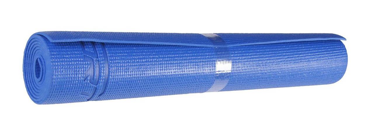 Коврик (мат) для йоги и фитнеса SportVida PVC 4 мм SV-HK0051 Blue, фото 2