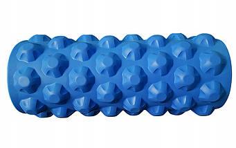 Массажный ролик (валик, роллер) SportVida SV-HK0171 Blue, фото 2