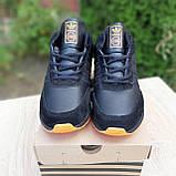 Чоловічі зимові кросівки в стилі Adidas INIKI чорні з помаранчевим, фото 4