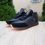 Чоловічі зимові кросівки в стилі Adidas INIKI чорні з помаранчевим, фото 8