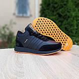Чоловічі зимові кросівки в стилі Adidas INIKI чорні з помаранчевим, фото 9