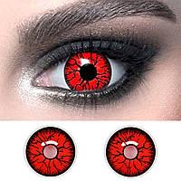 Червоні контактні лінзи кольорові ELITE Lens Dark Red 14,5 мм. для косплею та на Хелловін (N0139)