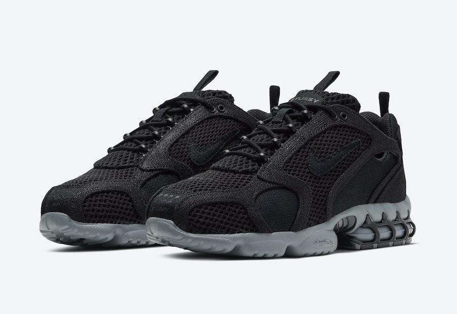 Nike X Stussy Air Zoom Spiridon cage Black (44(28.5см))