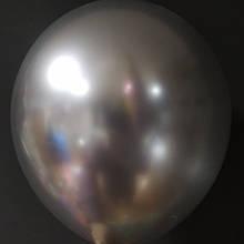 """Латексна кулька хром срібний 12"""" 30см Китай"""