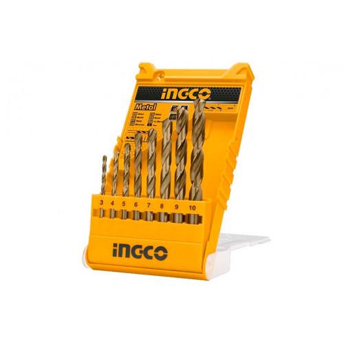 Набор сверл по металлу 8 шт 3-10 мм INGCO